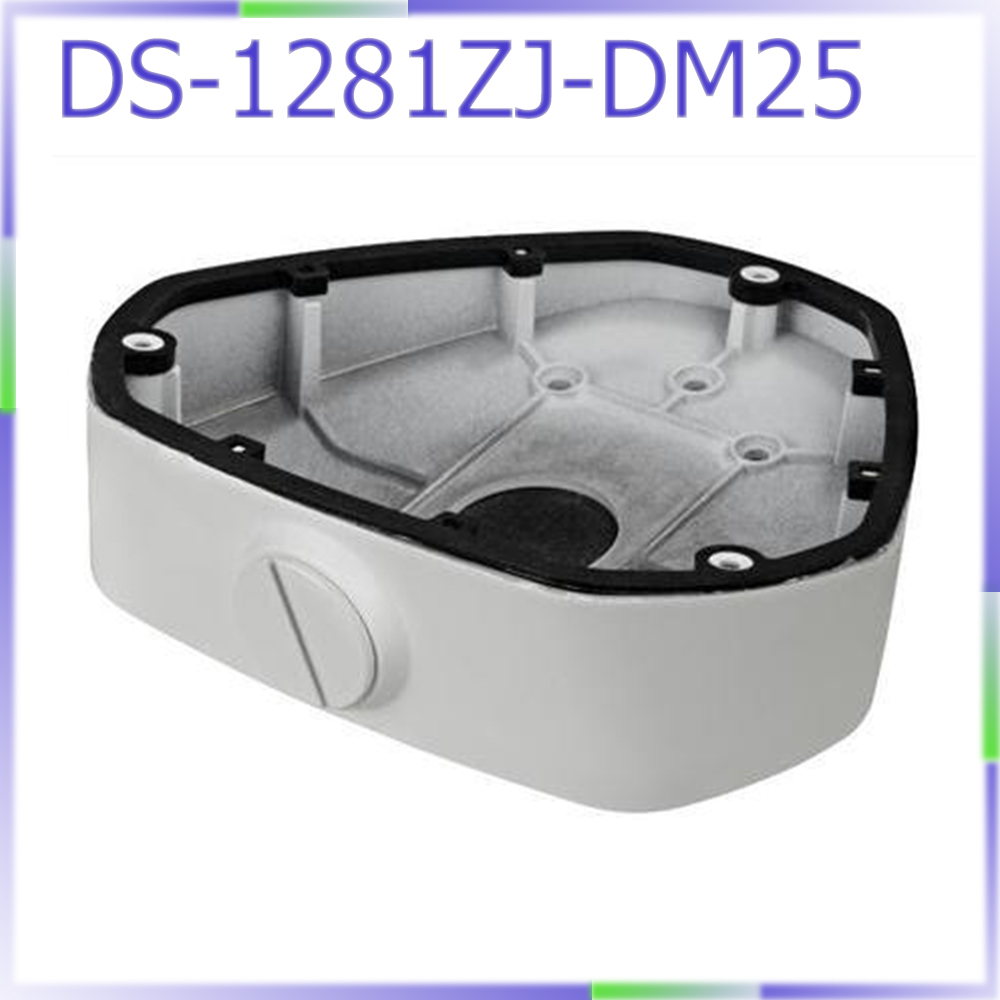 DS-1281ZJ-DM25 Inclined ceiling mount bracket junction box for fisheye camera ds 1602zj box pole ptz camera vertical pole mount bracket with junction box