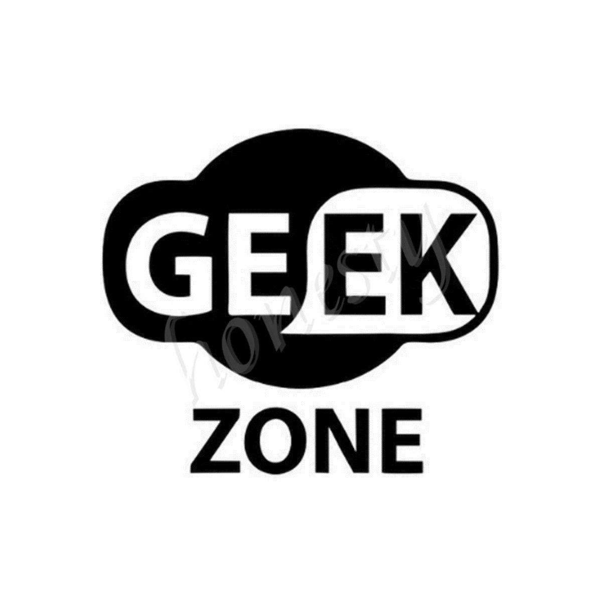 Car glass sticker design - Geek Zone Design Wall Home Door Window Glass Car Sticker Laptop Auto Truck Black Vinyl Decal