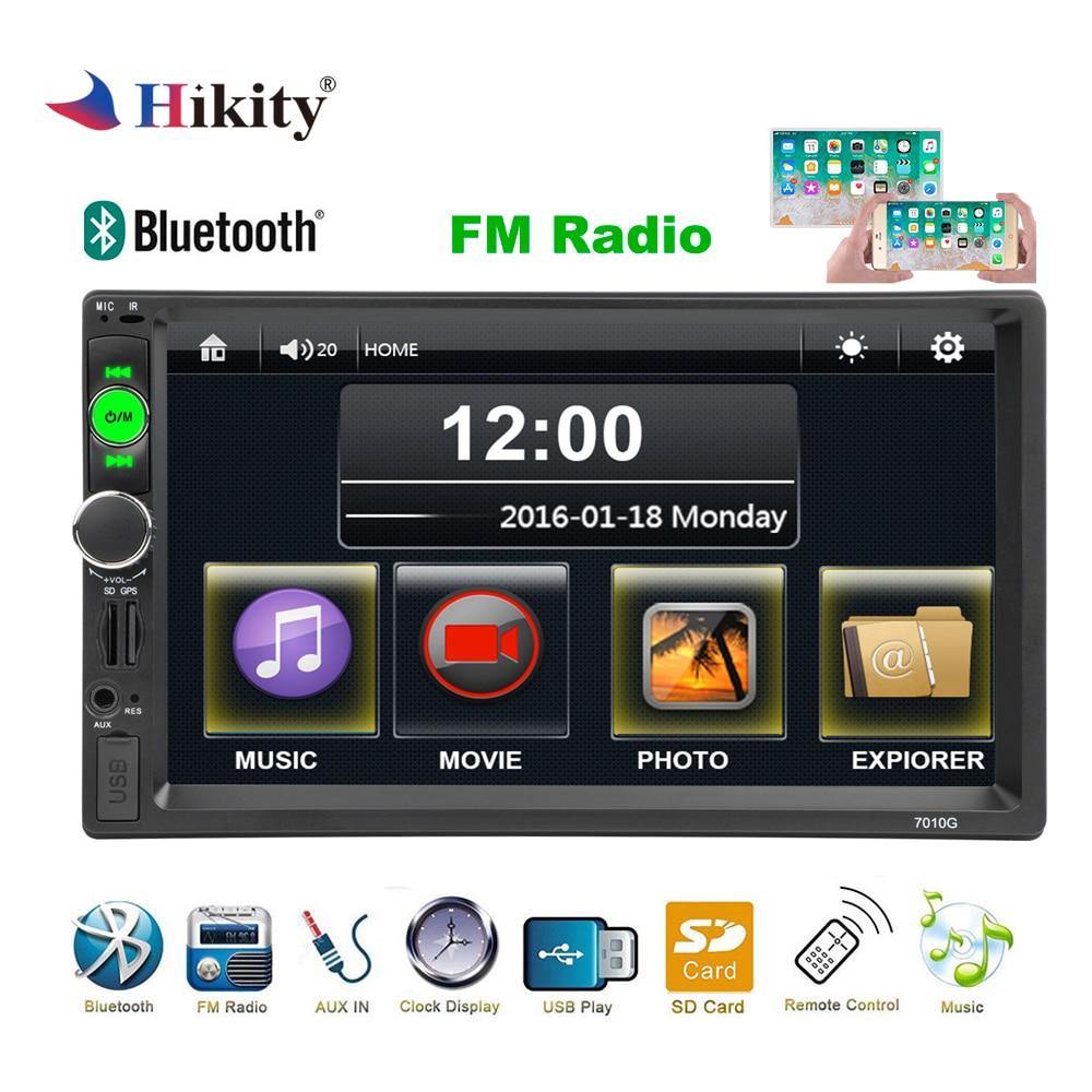 Hikity Autoradio 2 din Car Radio GPS Navigation 7 HD Multimedia Car MP5 Player Bluetooth Radio