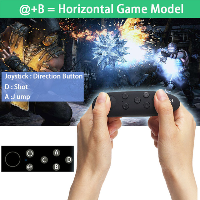 Wireless Bluetooth Gamepad Update VR Remote Controller For Android Joystick Game Pad Control For 3D Glasses VR BOX Shinecon