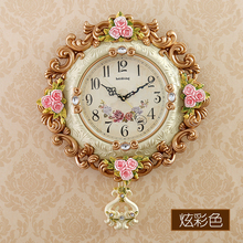 watches Decoration Art quartz European style luxury decoration creative living room watch rose clock swing mute electronic clock