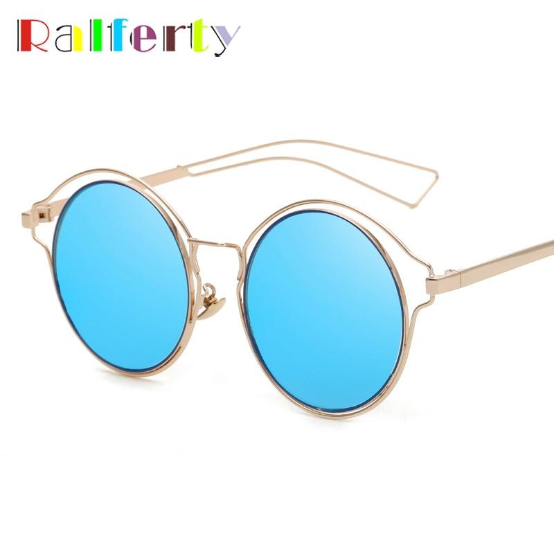 Ralferty 2017 Vintage Sunglasses Women Men UV400 Sun Glasses Round ...