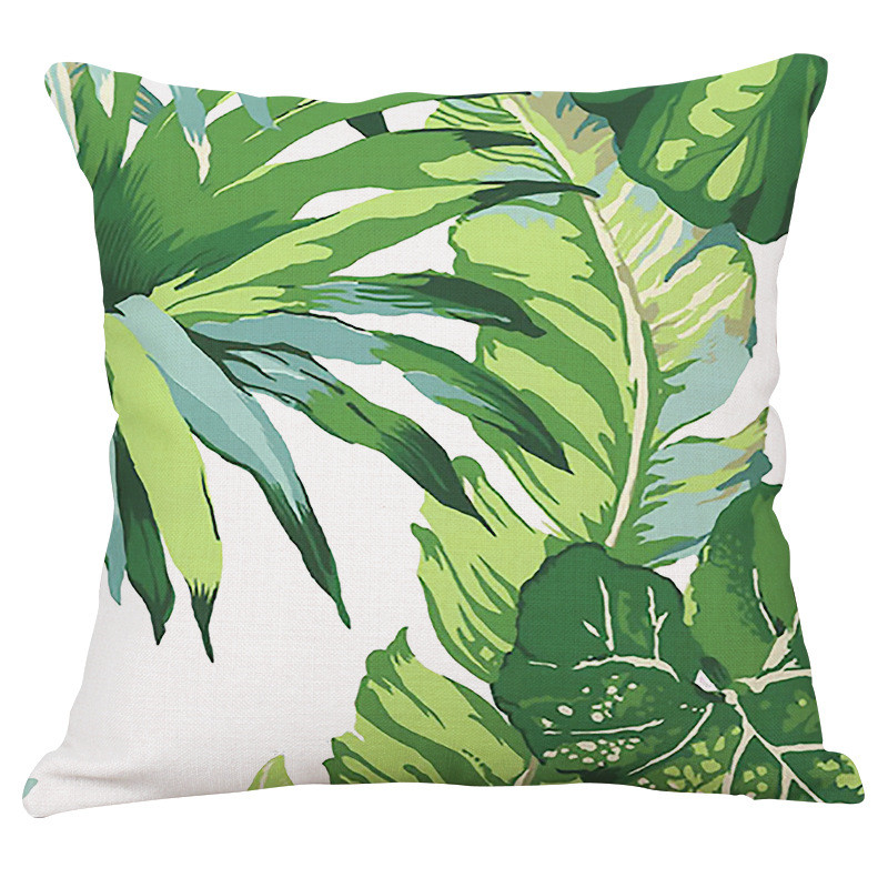 Yaşıl yarpaqlar Tropik Bitkilər Banan Yarpaqları Canna Monstera - Ev tekstil - Fotoqrafiya 3