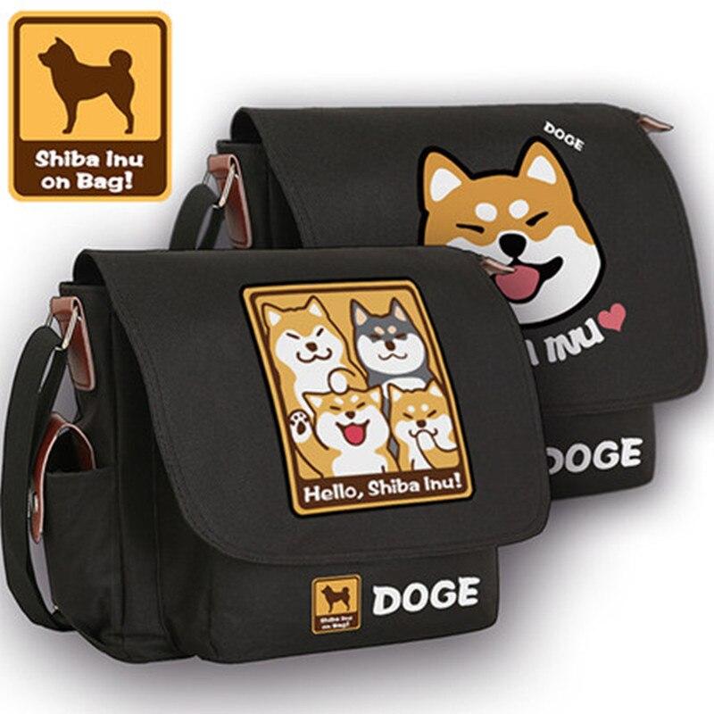 Sinnvoll Nette Shiba Inu Lustige Dogen Lächeln Emoji Anime Dogen Crossbody Taschen Für Frauen Kawaii Schultaschen Unisex Umhängetaschen Leinwand Taschen Home