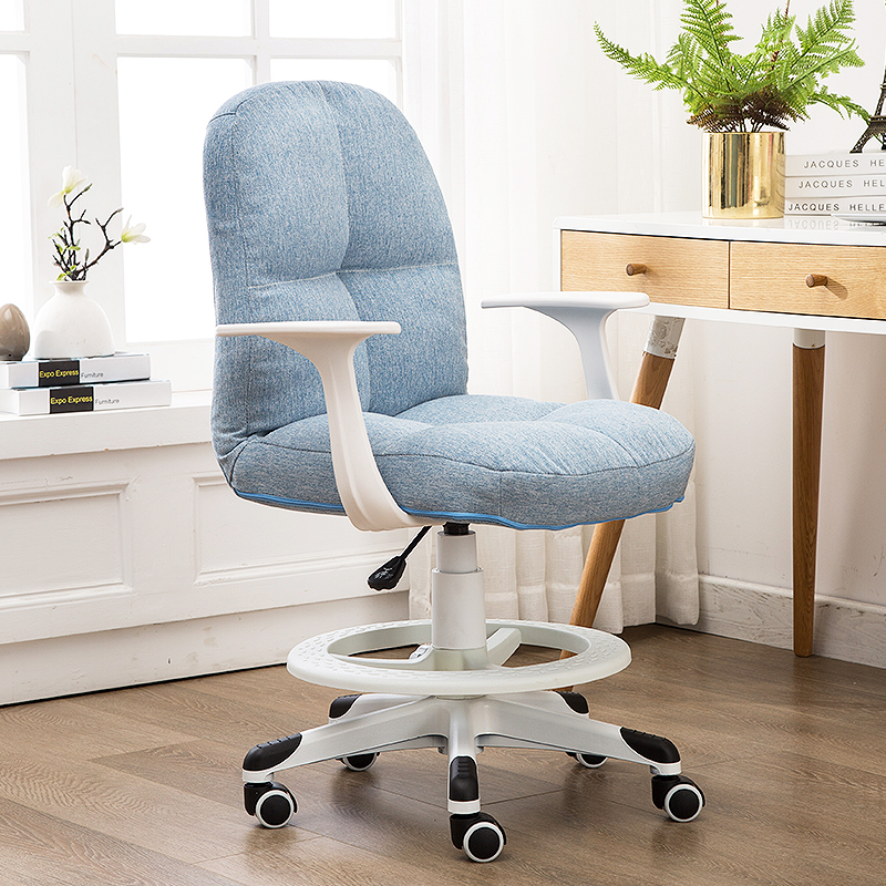 Soft Kids Chair Lifted Student Stool with Footrest Washable Multifunction Household Computer Chair Children Study Stool Safety|Children Chairs| |  - title=