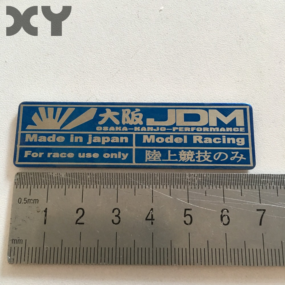 Stainless Steel Metal Shiny And Smooth Jdm Racing Stickers For Automobiles Motorcycle Japanese Style Automotive Interior