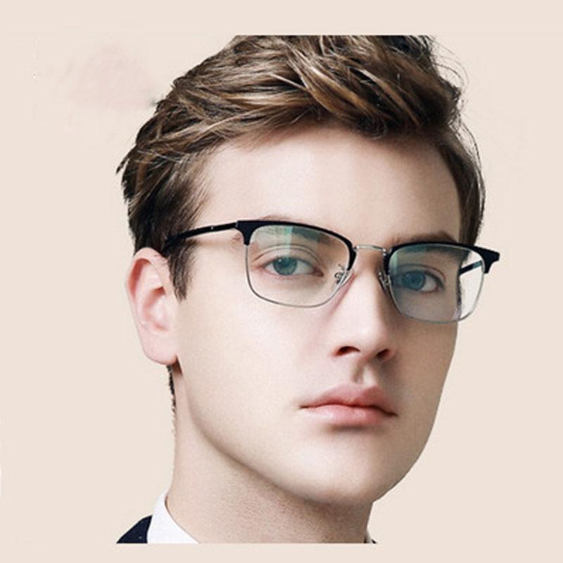 Literary trend retro square full frame glasses frame art metal business causaul glasses frame