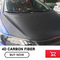 4D Black Vinyl Car Wrap Carbon Fiber Film Waterproof DIY Car Styling For Interior Exterior Accessories Size:1.52m*30m