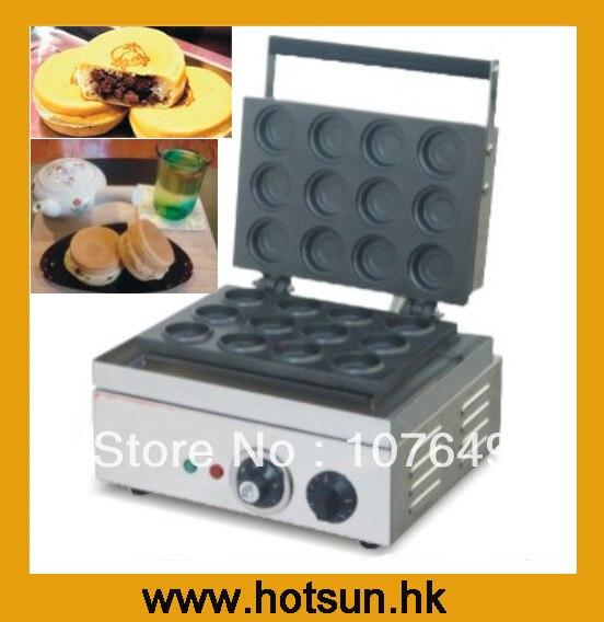 Hot Sale 110v 220V Electric Japanese Red Bean Cake Baker hot sale 16pcs gas bean cake machine