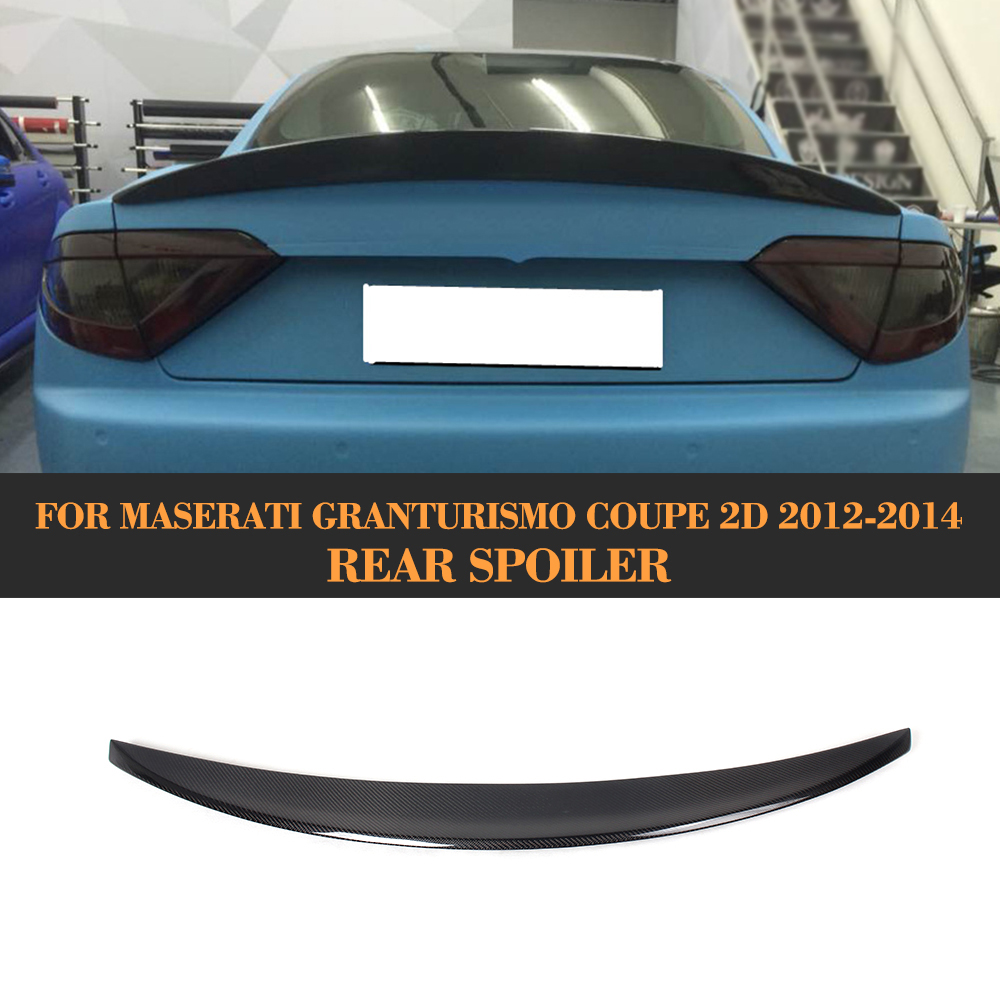 Uhlíkové vlákno Zadní část zavazadlového prostoru Spoiler Wing pro Maserati GT GranTurismo Coupe 2 Door 2012 2013 2014 Nekonvertibilní kryt auta