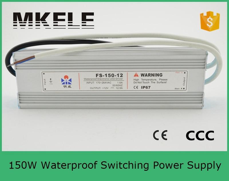 ФОТО Waterproof LED 24v FS-150-24 6.3A 150W switching power supply AC90-240V/24V module Transformer Led Strip & Led billboard