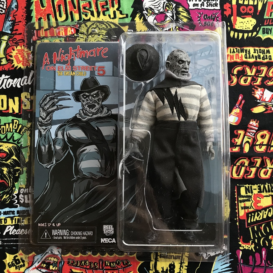 Original NECA Exclusive Old Goods Box Toy Horror: a Nightmare on Elm Street - Freddy Grey Action Figure Collectible Model Toy horror film a nightmare on elm street 3 freddy krueger toys with lighting house action figure neca pvc collection model toy 28cm