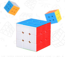 2019 New Real Oyuncak Cube Shengshou 3x3x3 Mr.m Cube Twisty Puzzle Toy Colorful Stickerless Puzzles For Children Toys стоимость