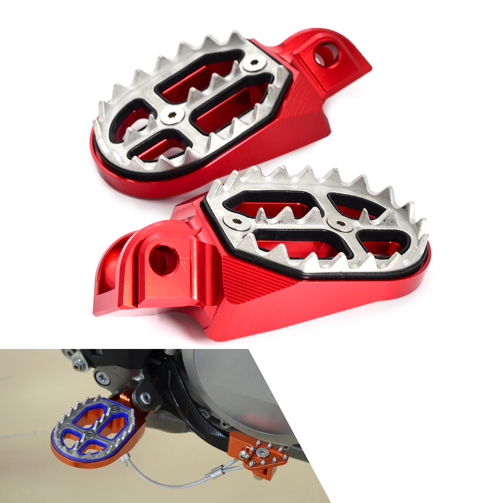 Footpeg Foot Rest Pegs Pedal For <font><b>Beta</b></font> 125RR 250RR 350RR 450RR 125 250 300 <font><b>350</b></font> 390 400 430 450 480 498 520 525 <font><b>RR</b></font> Motard XTrainer image