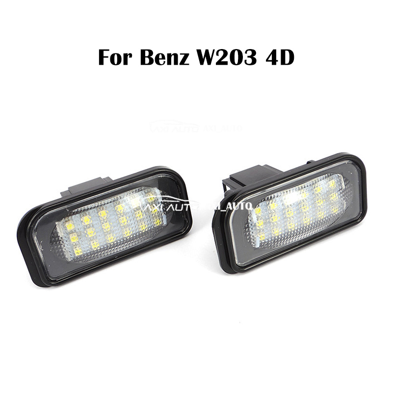 2 PCS Error Free Car LED Number License Plate Light Lights Lamp 18 LED For Mercedes Benz W203 4D Sedan Accessories for mercedes benz slk r171 2004 2011 led car license plate light number frame lamp high quality led lights