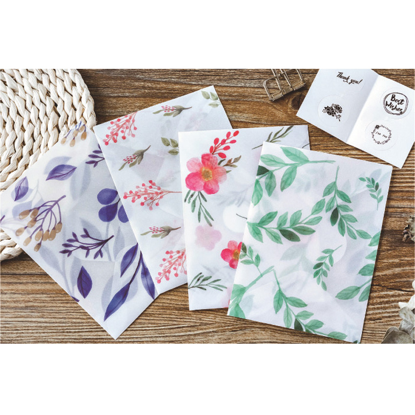 8pcs/lot Cute Four Seasons In A Dream Sulfuric Acid Paper Envelope School Stationery Gift Envelope For Wedding Letter Invitation