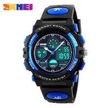 SKMEI Sports Children Watches Kids For Girls Boys Military Waterproof Wristwatches Dual Display LED Digital Quartz Watch