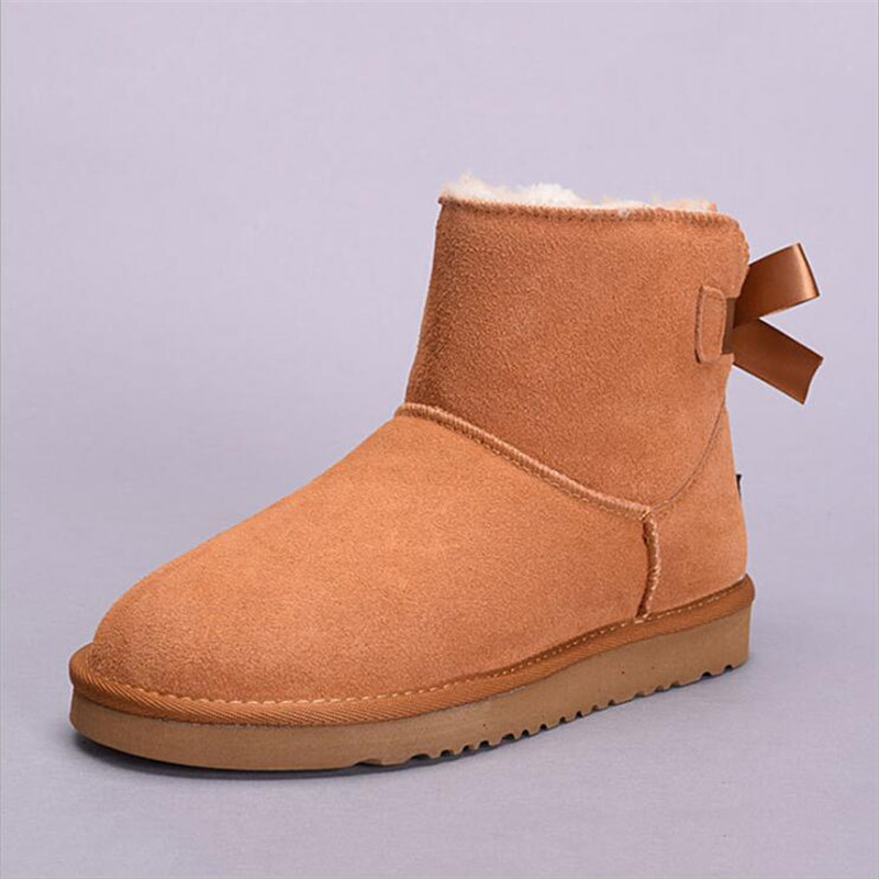 VIXLEO Women Snow Boots Ug Style Australia Classic Snow Boots Winter Warm Leather High-quality Waterproof Flats Lady Boots 35-45 2017 sales of the most popular hot winter boots women ug australia boots women slip warm women s boots in the snow size 34 44