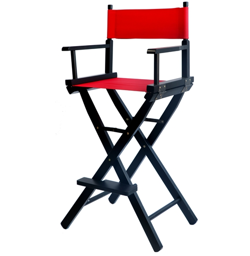 Professional Makeup Artist Director Chair Black Finish With Canvas Folding  Wooden Makeup Lightweight Foldable Director Chair In Garden Chairs From  Furniture ...