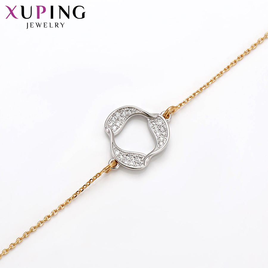 Xuping Fashion Elegant Design Bracelets Charm Style Bracelets for Women Girls Imitation Jewelry Gift for Christmas S71,3-71719