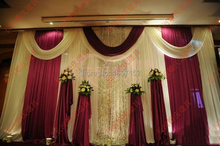 Deluxe Stage Backdrop with Detachable Swag 10ft*20ft Party wedding Backdrop stage decoration wedding supplies