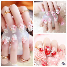 Buy pre design nail tips and get free shipping on aliexpress hot beautiful 24 nails tips french pre design 3d false nails tips fake nail french nail prinsesfo Image collections