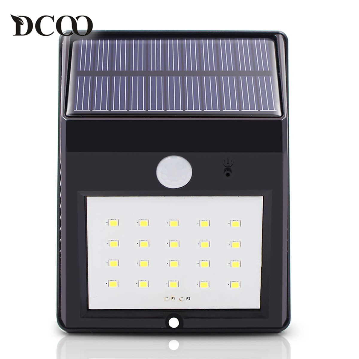 Dcoo Led Solar Lamp Light 20 LEDs Motion Sensor Garden Lamps Lampada Solar Luz Solar Garden Light Solaire Wireless Wall Lamp