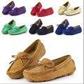 Colorido tamanho 23 ~ 37 crianças mocassins shoes meninas da criança shoes