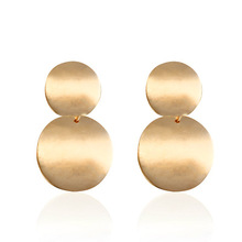 Fashion Drop Earrings Trendy Gold Round Statement For Women Brincos New Arrival Jewelry