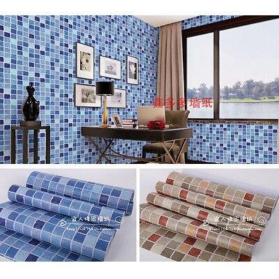 Fashion Self adhesive Mosaico Parete di Carta Adesivo Pavimento di ...