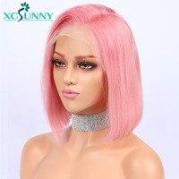 13x6 волнистые Синтетические волосы на кружеве парик человеческих волос для Для женщин бразильский Волосы remy волнистые Синтетические волосы