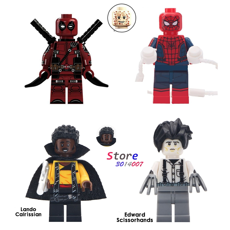 Blocks Toys & Hobbies Helpful 1pcs Model Building Block Action Figure Starwars Superheroes Spiderman Wild Deadpool Collection Dolls Diy Toys For Children Gift Moderate Price