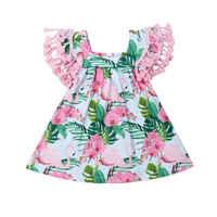 Vestido de flamenco con flecos para niñas pequeñas, vestidos de fiesta en la playa de 0 a 18M