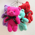 5pcs/lot  women Lovely mini teddy bear plush toys  small  pendant children's day gift Kawaii   Toys kids  Cartoon  Dolls  TO78