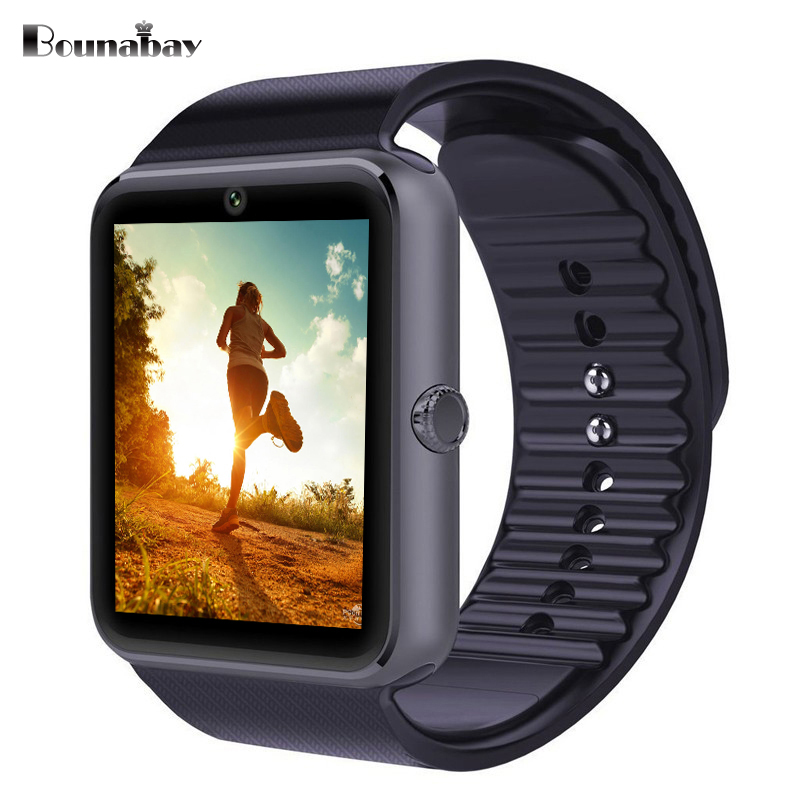 BOUNABAY Multi-lingual Bluetooth touch watch for man sports watches Android ios phone men Clocks mens Analog 3G wifi 32M clock детская игрушка new wifi ios