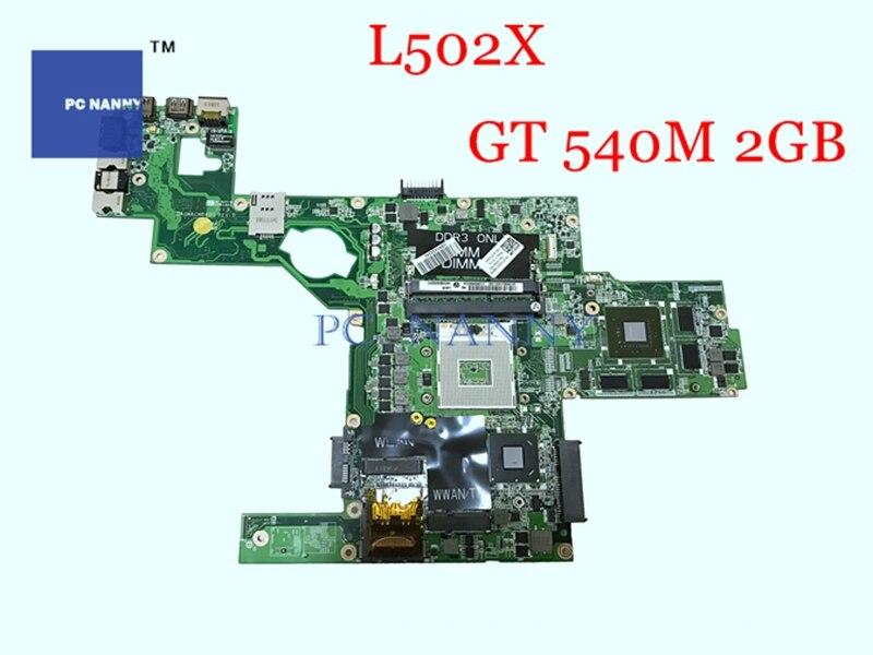 Материнская плата для ноутбука PCNANNY 714WC 0714WC DAGM6CMB8D0, материнская плата s989 для Dell XPS L502X, основная плата HM67 w/ GT 540M, 2 Гб, работает