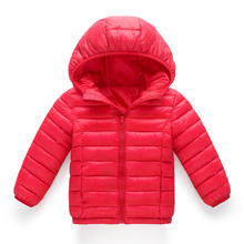 Children Winter Cotton Jackets for Boys Outerwear Kids Sport jackets for girls Warm Cotton padded Hooded Coat Teenager Clothing