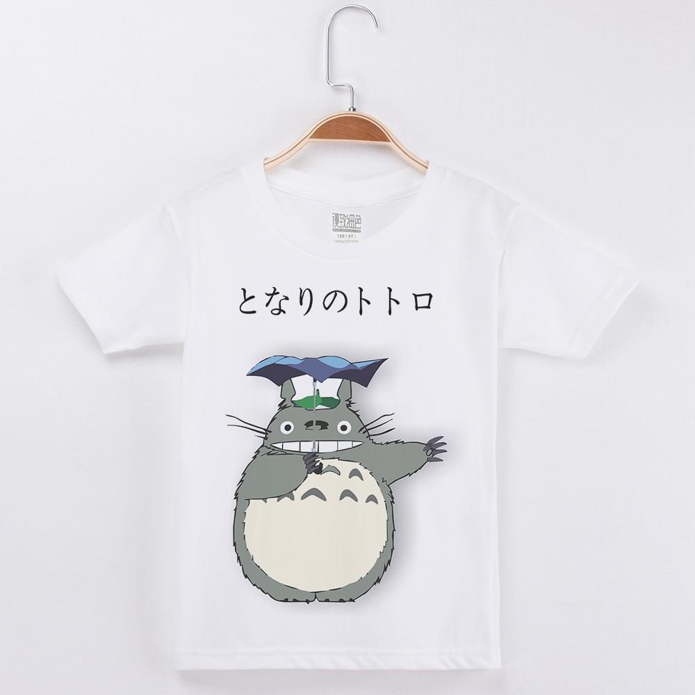 New Arrivals Boys Brand Tshirt Basic White T-Shirt Fashion Hipster Cotton O-Neck Tees Totoro Print Child Tee Shirt Enfant Garcon
