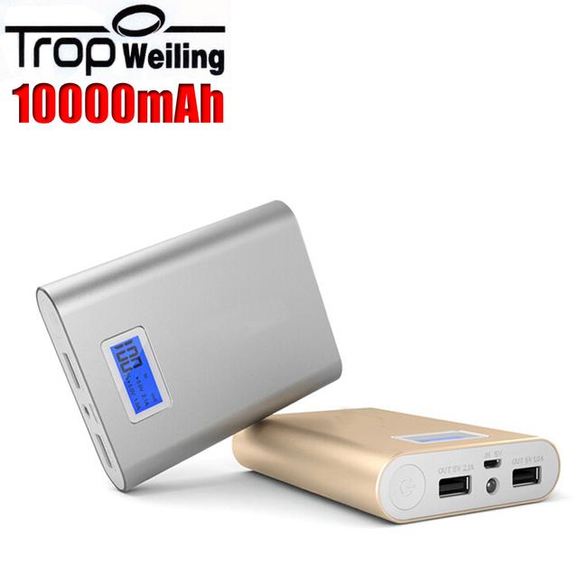 Tropweiling caixa de banco do poder 10000 mah carregador de bateria do telefone portátil bateria externa para Todos Os celulares batterie externe