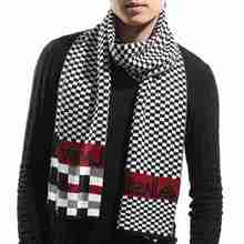 Men Scarf Winter New Brand Plaid Tartan Foulard Homme Trendy Letter Bufandas Pattern Scarf Male YJWD854