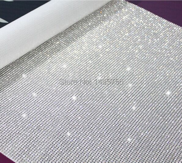 Factory Promotion! Hotfix 3mm Crystal Rhinestone Trims Roll Clear Bridal Appliques Trims Crystal In Silver Sewing Accessoriesrs