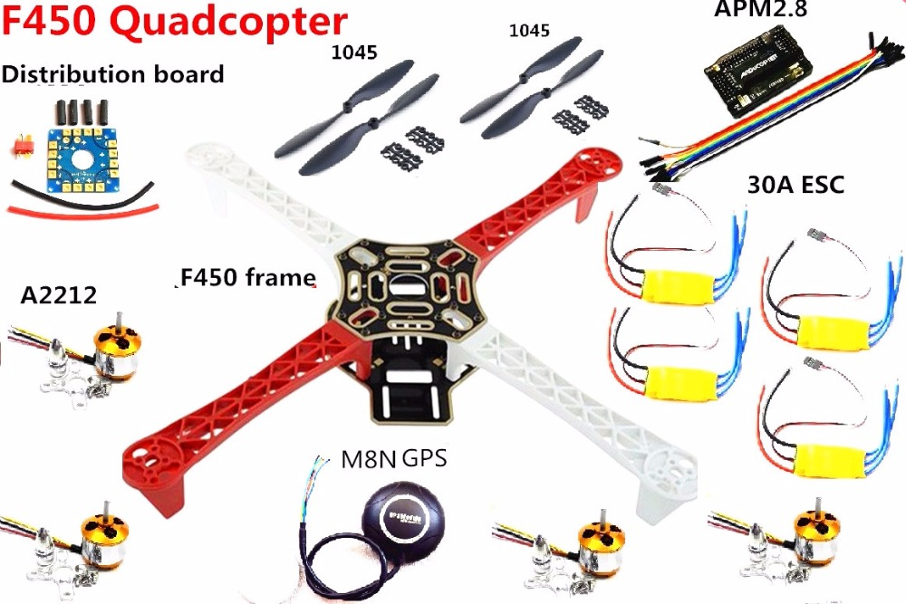 f450 quadcopter rack kit frame   apm2 8 controller board