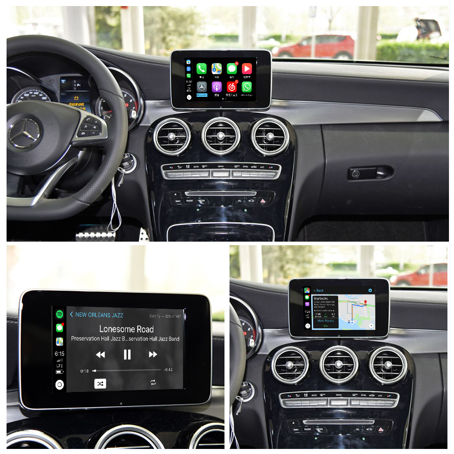 Joyeauto Wireless Apple Carplay Car play Android Auto Mirror Retrofit for  Mercedes A B C E G CLA GLA GLC S Class 15-19 NTG5 W205