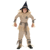 Children S Scarecrow Costume Wizard Of Oz Movie Brainiest Role Cosplay For Boys Grass Color Christmas