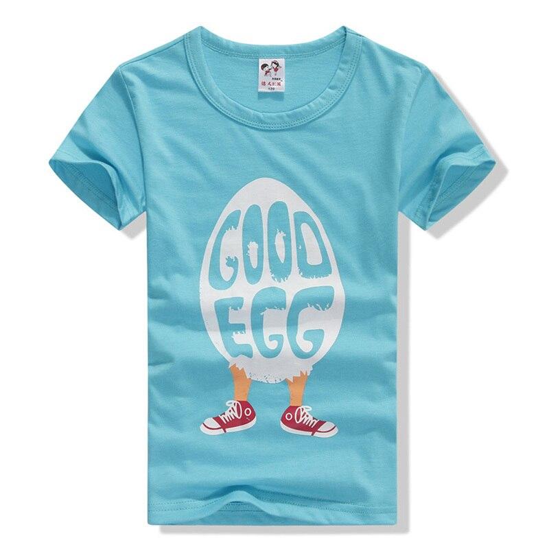 Симпатичная голубая футболка с рисунком из мультика для маленьких мальчиков и девочек Базовая топы с короткими рукавами J2
