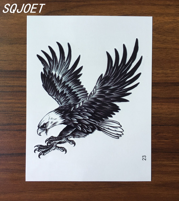 12x19 Cm 3d Tatouage Voler Dans Le Ciel Avec Bleu Ciel Et Blanc
