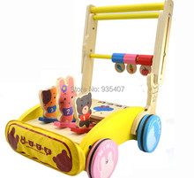 New wooden toy Push walker Baby toy  baby walker push cart baby walker 1 3 toy car girl