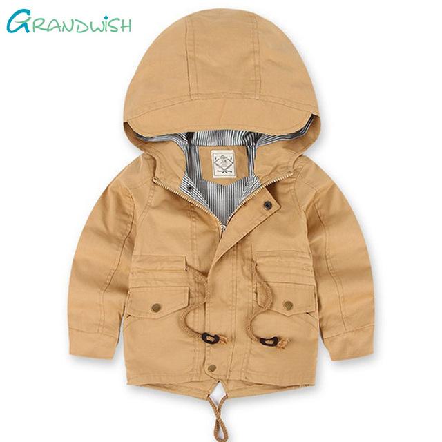 Grandwish meninos estilo europeu casacos de inverno crianças quente trench com capuz casacos casaco para as meninas espessamento roupas 3 t-10 t, SC692