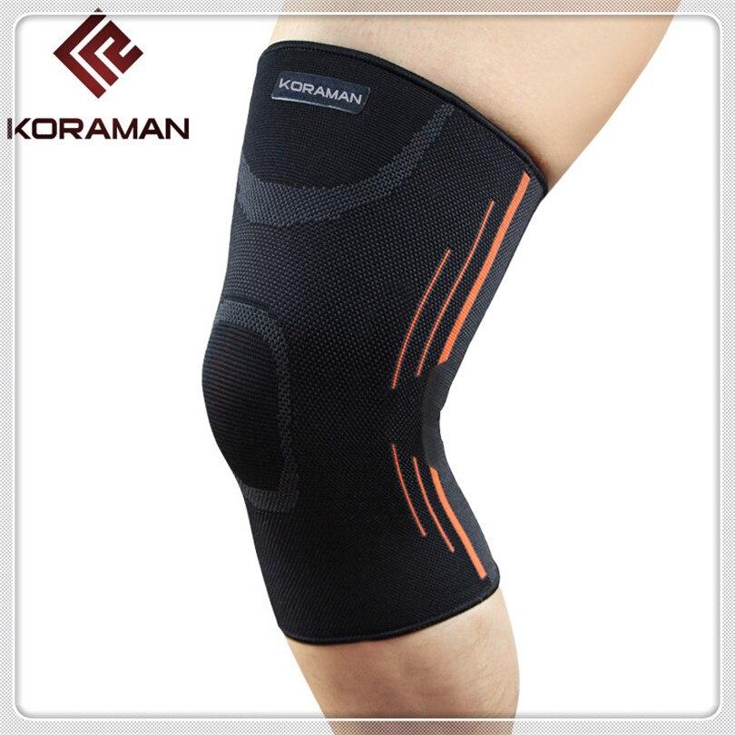 KORAMAN 2PCS new Adjustable Elastic Knee Support Brace Kneepad Patella Knee Pads Sports Kneepad Guard Strap Fitness Running 1412