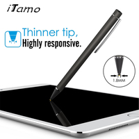 2 Mm Fire Point Recognition Screen Stylus Pen With Micro USB Charging For Iphone 4 5